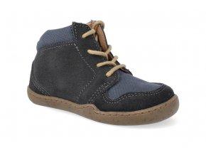 barefoot kotnikova obuv blifestyle pangolin bio leather lace schiefergrau 3