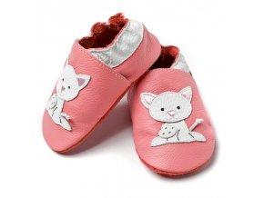 liliputi soft baby shoes pink pussycat 2105