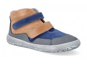 barefoot kotnikova obuv jonap bella m modro bezova 2