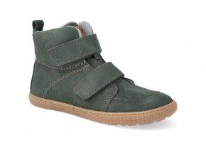 barefoot zateplena obuv koel4kids dark hidro warm khaki 32 41 2