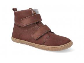 barefoot zateplena obuv koel4kids dark hidro warm chocolate 32 41 4