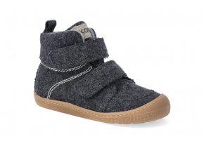 barefoot zateplena obuv koel4kids dark merino dark grey 20 31 2
