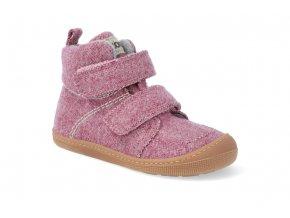 barefoot zateplena obuv koel4kids dark merino imperial pink 20 31 2
