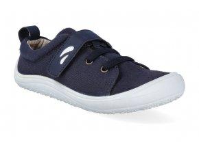 barefoot obuv tikki shoes harlequin textil navy 2