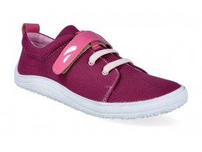 barefoot tenisky tikki shoes harlequin textil ruby 3
