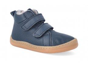barefoot zimni obuv froddo bf winter furry blue 4