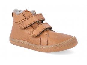 barefoot zimni obuv froddo bf winter furry cognac 2