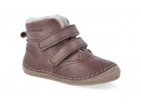 zimni obuv froddo flexible sheepskin dark brown 3 4
