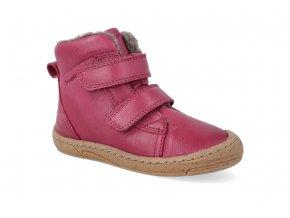 barefoot zimni obuv froddo narrow wool wine 2 2