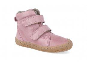 barefoot zimni obuv froddo narrow wool pink 2 4