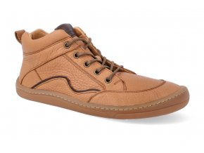 barefoot kotnikova obuv froddo bf cognac tkanicka 2 2