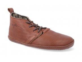 barefoot zimni obuv aylla tiksi winter brown l 2