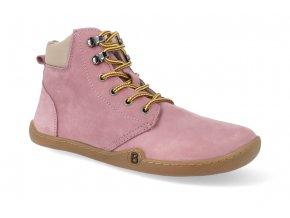 barefoot zimni obuv blifestyle streetstyle nubuk fleece rose 4