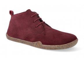 barefoot zimni obuv blifestyle classicstyle bio wax fleece cranberry 2
