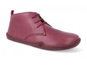 barefoot zimni obuv blifestyle classicstyle bio nappa wool cranberry 2