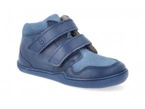 barefoot kotnikova obuv blifestyle maki bio wool fleece merblau wide 2