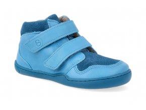 barefoot kotnikova obuv blifestyle maki bio wool fleece turquoise wide 4