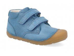 barefoot kotnikova obuv bundgaard petit velcro petrol 2 4
