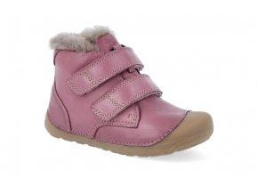 barefoot zimni obuv bundgaard petit mid lamb dark rose BG101155 726 2
