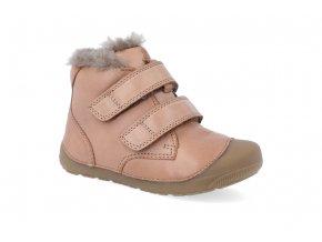 barefoot zimni obuv bundgaard petit mid lamb caramel 2