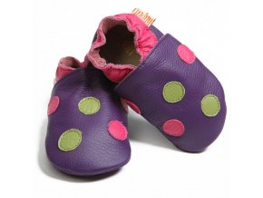 Barefoot capáčky Liliputi® - Polka Dots purple