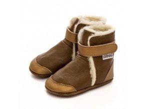 Barefoot zimní capáčky Liliputi® - Booties Copper