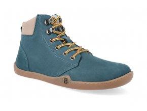barefoot zimni obuv blifestyle streetstyle nubuk fleece petrol 4
