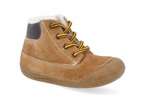 barefoot zimni obuv lurchi ferdi suede tan 4