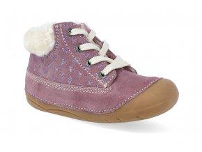 barefoot zimni obuv lurchi frozy suede wildberry 2
