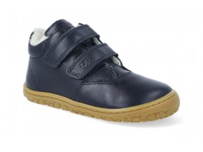 barefoot zimni obuv lurchi niklas nappa navy 4