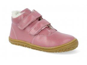 barefoot zimni obuv lurchi niklas nappa rose 2