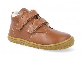 barefoot zimni obuv lurchi niklas nappa cognac 4