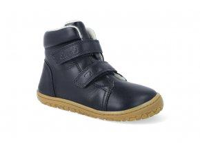 barefoot zimni obuv lurchi nik nappa navy 4