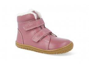 barefoot zimni obuv lurchi nik nappa rose 2