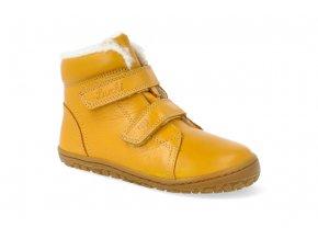 barefoot zimni obuv lurchi nik nappa giallo 2