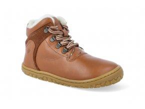 barefoot zimni obuv lurchi nesti nappa cognac 4