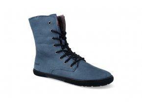 barefoot zateplena obuv koel4kids faro adult blue 08L008.237 110 3