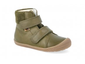 barefoot zimni obuv s membranou koel4kids emil nappa tex khaki 24 31 07T003.102 350 4