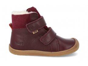 barefoot zimni obuv s membranou koel4kids emil nappa tex bordo 24 31 07T003.102 260 2