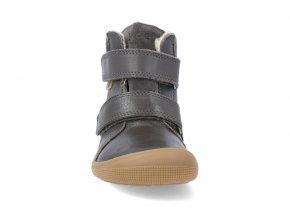 barefoot zimni obuv s membranou koel4kids emil nappa tex dark grey 24 31 07T003.102 400 4