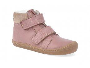 barefoot zimni obuv koel4kids bart nappa wool old pink 06W003.102 600 2