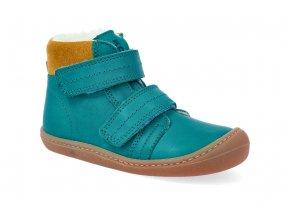 barefoot zimni obuv koel4kids bart nappa wool turquoise 06W003.102 130 2
