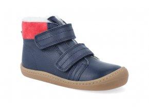 barefoot zimni obuv koel4kids bart nappa wool blue 06W003.102 110 4