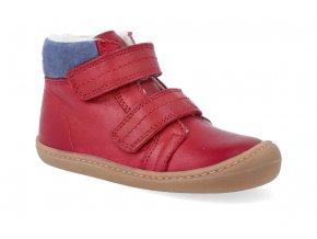 barefoot zimni obuv koel4kids bart nappa wool red 06W003.102 200 2