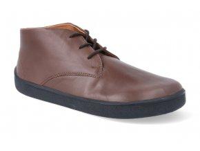 barefoot kotnikova obuv be lenka glide dark brown GLIDE DARK BROWN 4