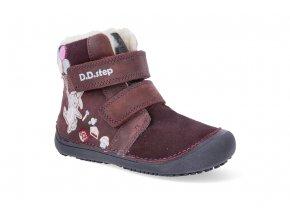 barefoot zimni obuv d d step w063 422 raspberry W063 422 2