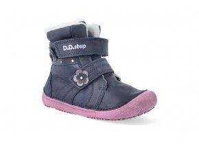 barefoot zimni obuv d d step w063 580 roayal blue W063 580 4