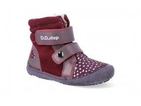barefoot zimni obuv d d step w063 829 raspberry W063 829 4
