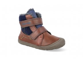 barefoot zimni obuv d d step w073 688 chocolate W073 688 2