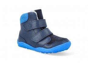 Barefoot zimní obuv s membránou bLIFESTYLE - Gibbon TEX wool meerblau